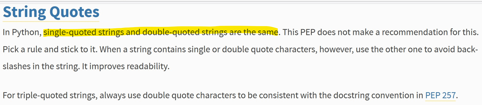 String quotes in PEP8 - GKMNGRGN